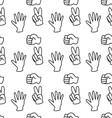 Rock-paper-scissors pattern background vector image