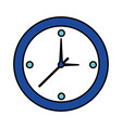 round clock time on white background vector image