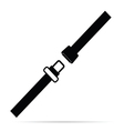 seat belt black and white vector image vector image