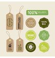 set organic food tag and label sticker vector image vector image
