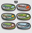 set sport logos vector image vector image