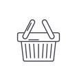 shopping cart line icon concept shopping cart vector image