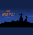 silhouette of grave scenery for halloween vector image