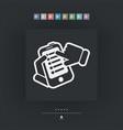 smartphone setting icon vector image