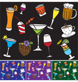 Some kinds of drinks and coctails vector image vector image