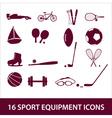 sport equipment icon set eps10 vector image vector image