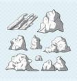stone set vector image
