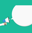 talk announcing through a megaphone vector image vector image