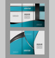 tri-fold business brochure template two-sided tem vector image vector image