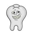 trolling funny meme tooth cartoon vector image