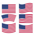 us flag collection vector image