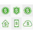 dollar logo Dollar icon Dollar cloud icon vector image