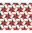 Seamless Black Red White Hexagonal vector image