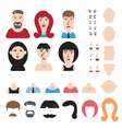 Simple avatar or character constructor vector image