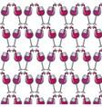 glasses splashing wine background icon vector image