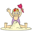 Playing in sand vector image