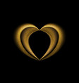 Smooth blurred golden heart background vector image