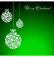 Abstract Christmas ball cutted from paper vector image vector image