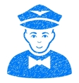 Airline Steward Grainy Texture Icon vector image vector image