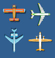 airplane plane top view and vector image vector image