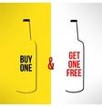 beer bottle promotional design buy one get vector image vector image