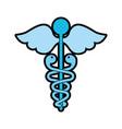 blue medical symbol vector image