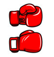 boxing gloves isolated on white background design vector image vector image