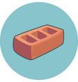 brick icon construction building vector image
