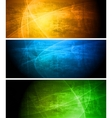 Bright textural banners collection vector | Price: 1 Credit (USD $1)