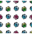 Cartoon diamonds seamless pattern vector image