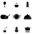 chinese food icon set vector image vector image
