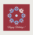 christmas card holiday greetings card vector image vector image