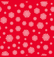 christmas seamless pattern with white snowflakes vector image vector image