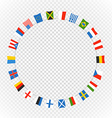 Color flags of differemt countries on transparent vector image vector image
