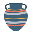 crockery container with handles isolated vase vector image vector image