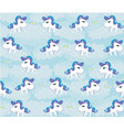 cute seamless pattern with unicorns vector image