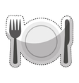 dish and cutlery isolated icon vector image vector image