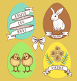 Easter edd hunt set vector image vector image