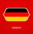 flag of germany is made in football style vector image vector image