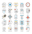 Flat Color Line Icons 20 vector image vector image