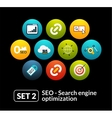 Flat icons set 2 - SEO and Development collection vector image