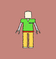 flat shading style icon kids toy robot vector image vector image