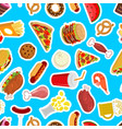 food background feed pattern meat ornament pizza vector image vector image