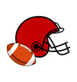 football ball and a helmet icon vector image