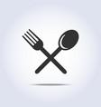 fork spun icon vector image vector image