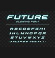 future glowing font fast sport futuristic vector image vector image