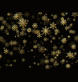 golden snowfall new year and christmas pattern vector image
