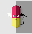 good site and bad site of medicine vector image