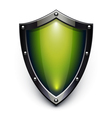 green security shield vector image vector image