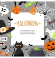 Halloween Background Flat vector image vector image